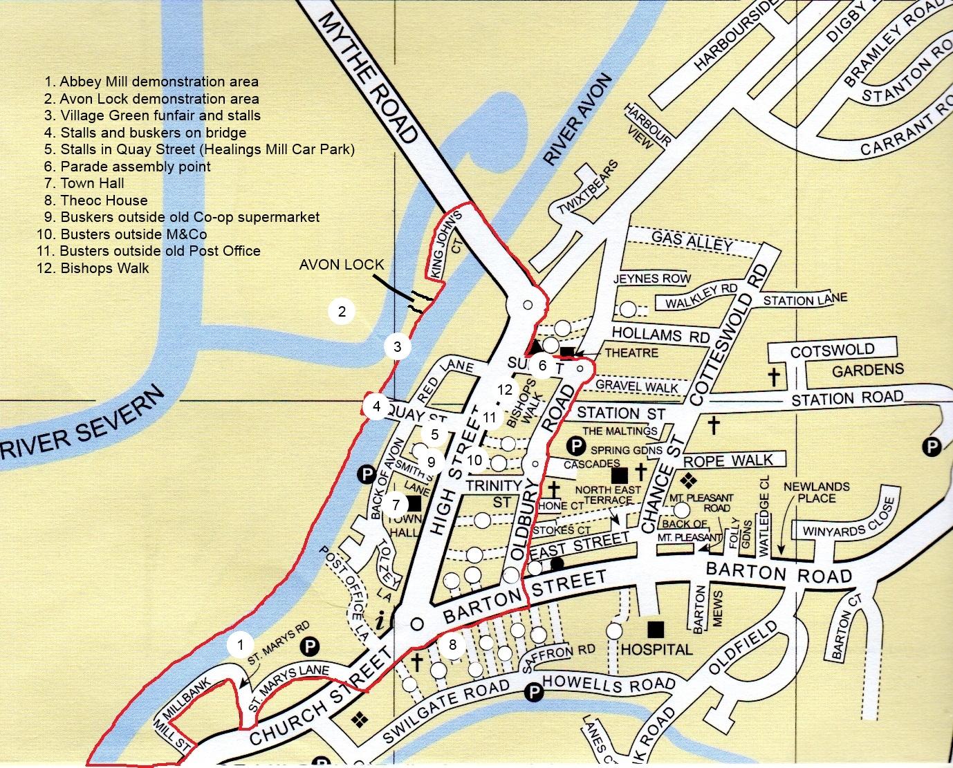 TBW map